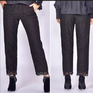Fate & Becker Black Lace Ankle Length Pants
